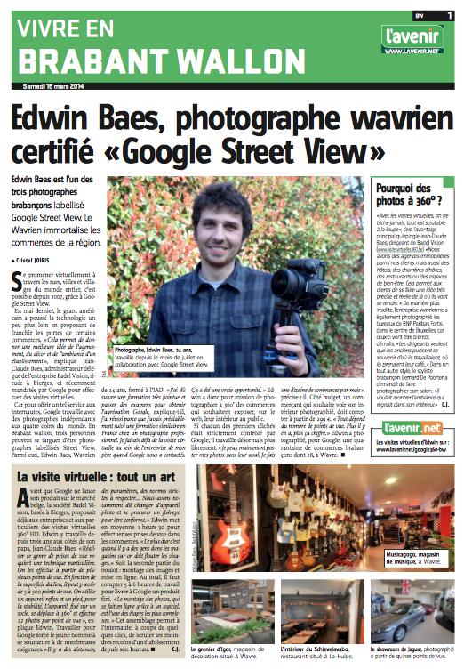 Edwin Baes - L'avenir